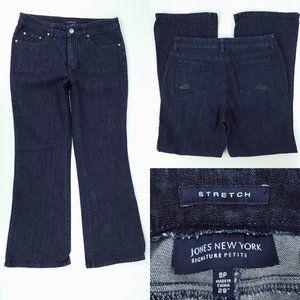 Jones NY Signature Petite 8P 29x28 Dark Wash Jeans